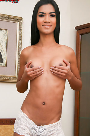 Gai a dark skinned LB with a great rack and a thick and excitable cut of fun in her panties